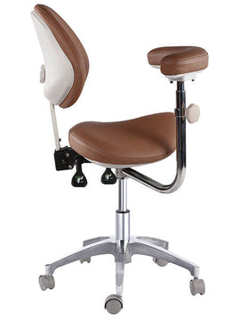 Saddle Style Seat Dental Assistant Stool with Swing Arm |SitHealthier
