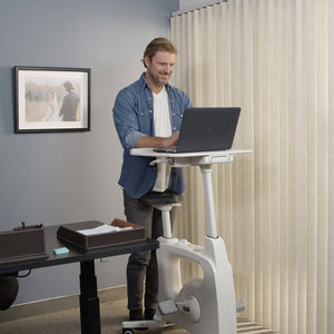All-In-One Home Office  Standing Exercise Desk Bike | SitHealthier