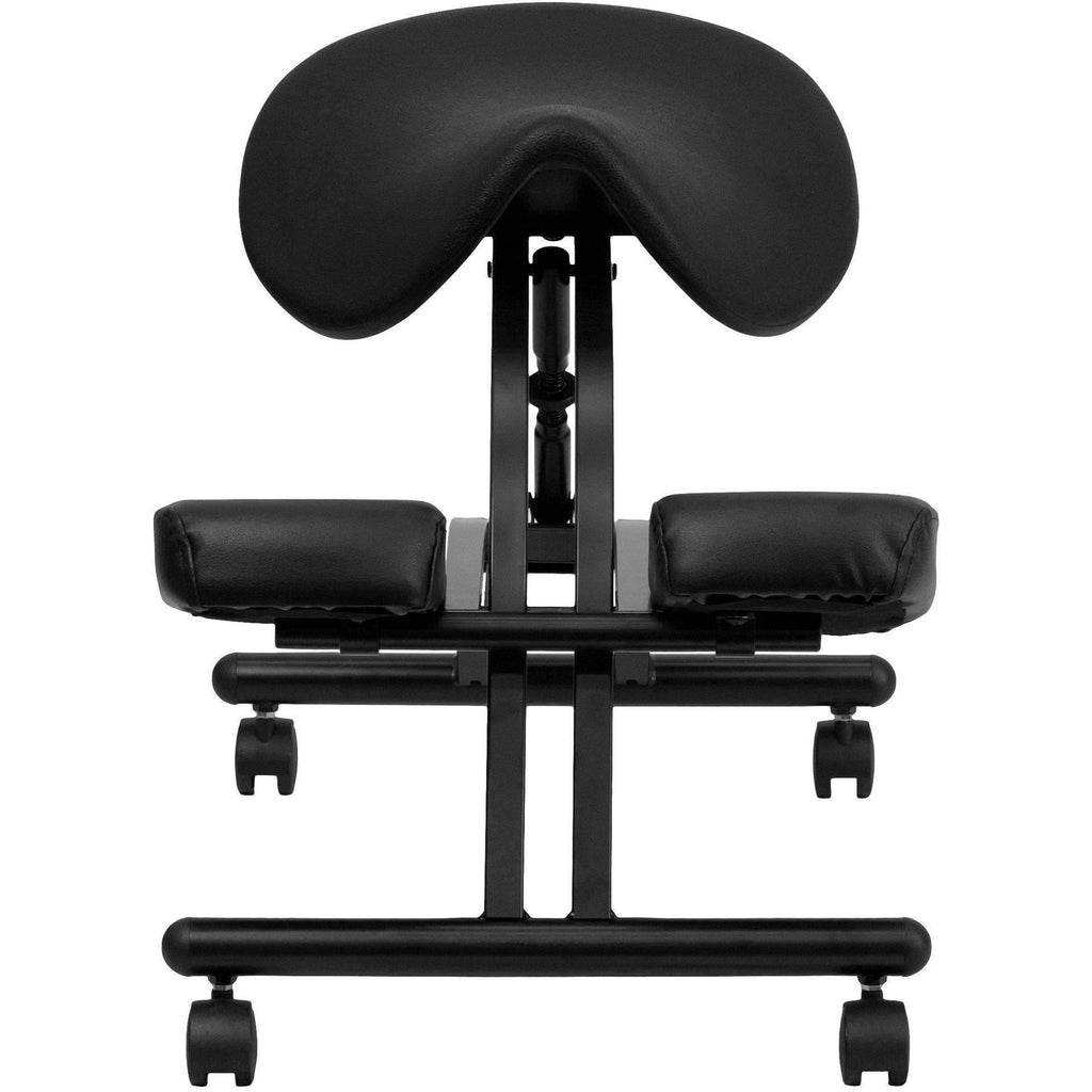Sit Healthier Ergonomic Kneeling Chair With Black Saddle Seat