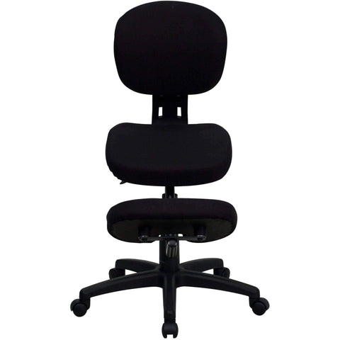 Mobile Ergonomic Kneeling Posture Task Chair with Back