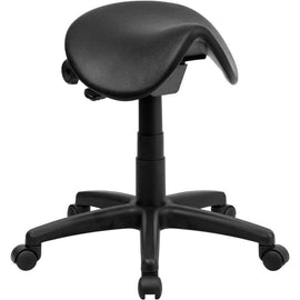 Backless Ergonomic Saddle Stool for Office and Medical | Sit Healthier