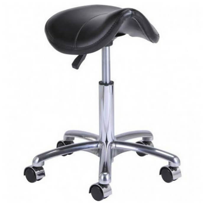 Ergonomic Pneumatic Height Adjustment Pony Saddle Shape Stool | SitHealthier