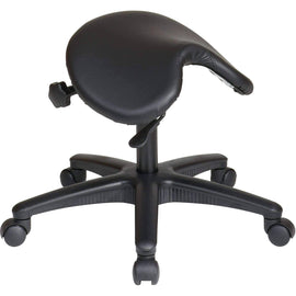 Ergonomic Pneumatic Backless Stool with Saddle Seat