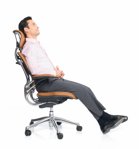 Self Adjusting Recline Headrest Chair with Armrests | SitHealthier