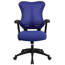 Designer High Back Blue Mesh Executive Swivel Chair | SitHealthier