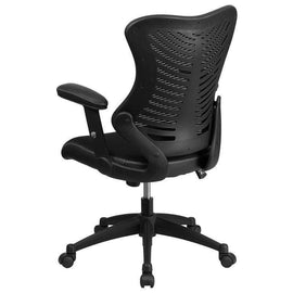 Designer High Back Black Mesh Executive Swivel Chair | SitHealthier