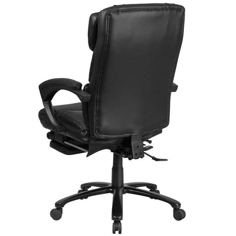 High Back Black Leather Executive Reclining Swivel Chair With Comfort | sithealthier.com