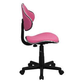 Ergonomic Pneumatic Seat Height Adjustment Swivel Task Chair - Pink | SiHealthier.com