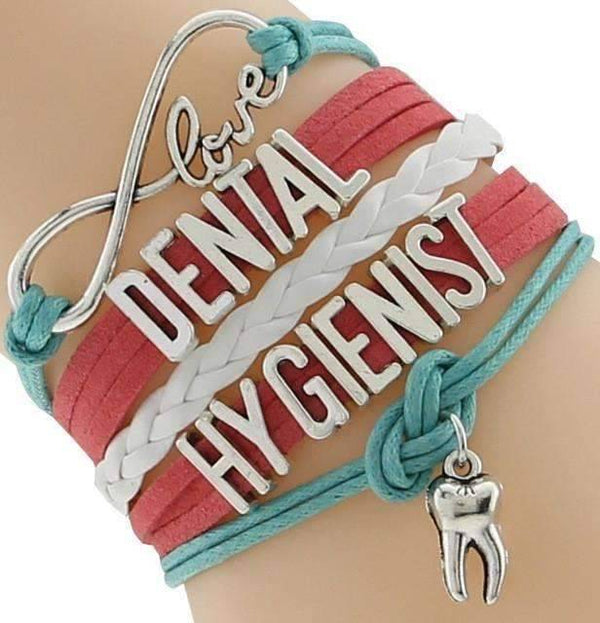 Handcrafted Love Dental Hygienist bracelet or wristband
