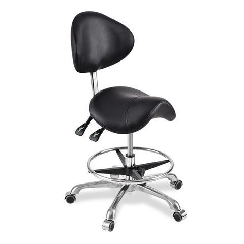 Swivel Saddle Seat Chair With Footrest & Backrest Chair for Medical