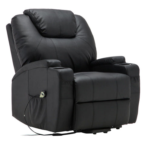 Electric Lift Power Recliner Heated Massage Sofa with Remote Control | SitHealthier