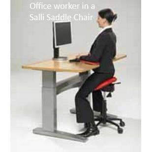 Salli Sway Ergonomic Medical or Office Saddle Chair | SitHealthier.com