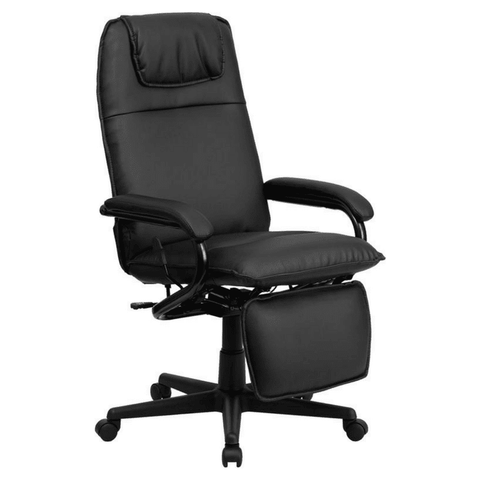 High Back Leather Executive Reclining Swivel Chair With Arms| SitHealthier