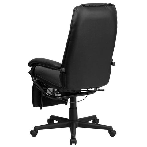 High Back Leather Executive Reclining Swivel Chair With Arms | sithealthier.com