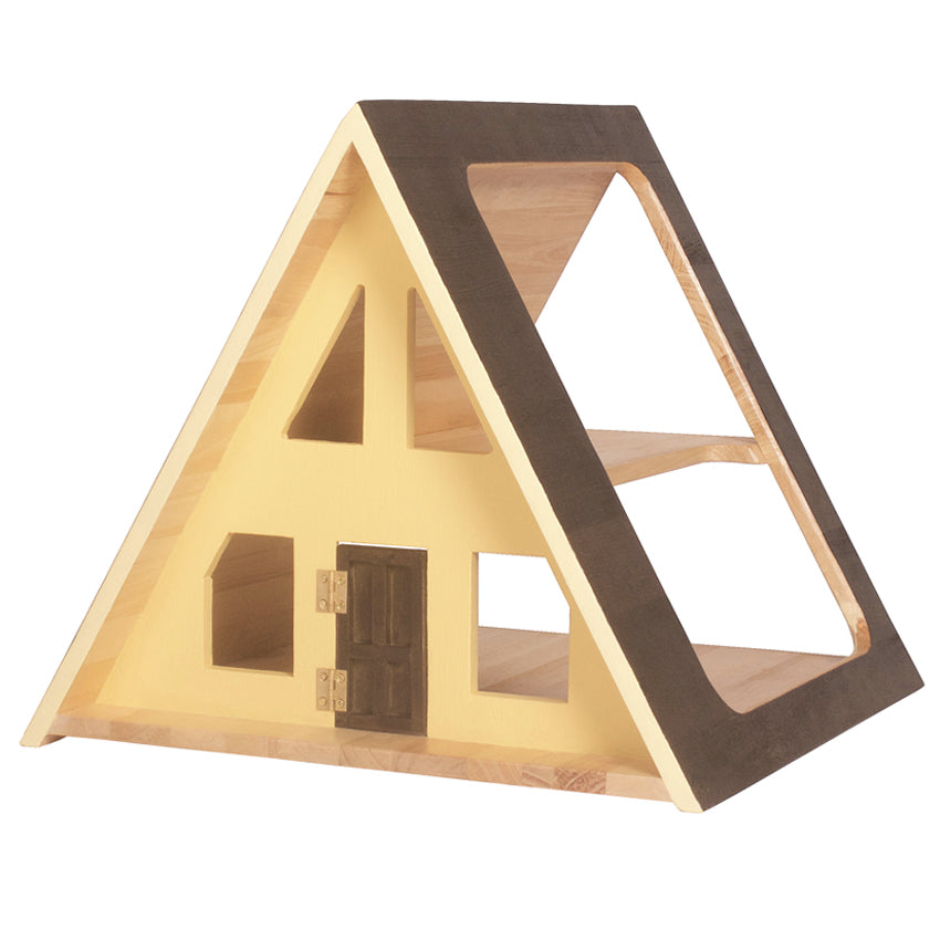 A-Frame Dolls House - Sunshine + Free Furniture Set