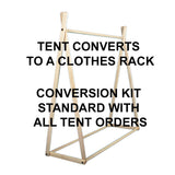 Natural Wonder Tent + Clothes Rack Conversion