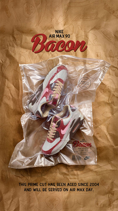 "The Nike Air Max 90 ""Bacon"" - a slice of sneaker history."