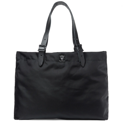 South2West88 Balistic Nylon Canal Tote - Classic Black - Front - Off The Hook Montreal