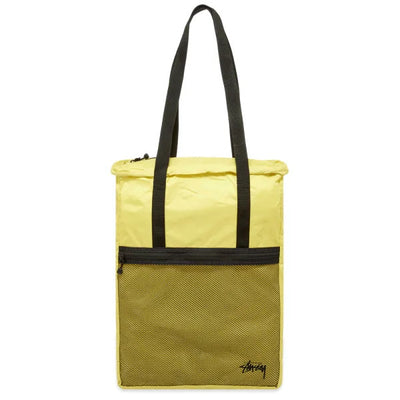 Stussy Light Weight Travel Tote Bag - Citrus - Front - Off The Hook Montreal