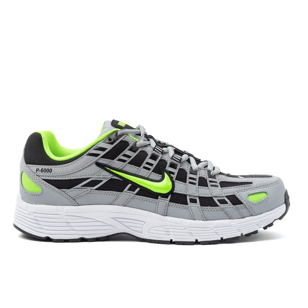 Nike P-6000 Grey / Black / Electric Green