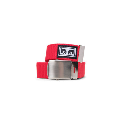 100050026 Big Boy Web Belt - men's - available at off the hook montreal #color_scarlet