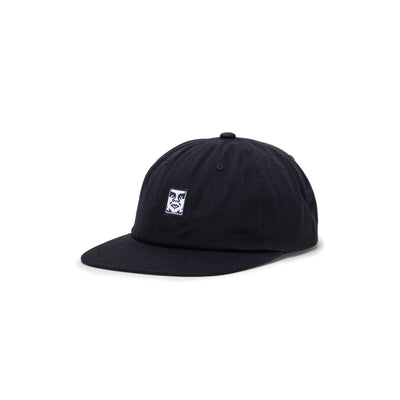 100580251 Icon Face 6 Panel Strapback - front - available at off the hook montreal #color_black