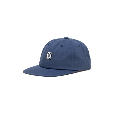 100580251 Icon Face 6 Panel Strapback - front - available at off the hook montreal #color_dull-blue