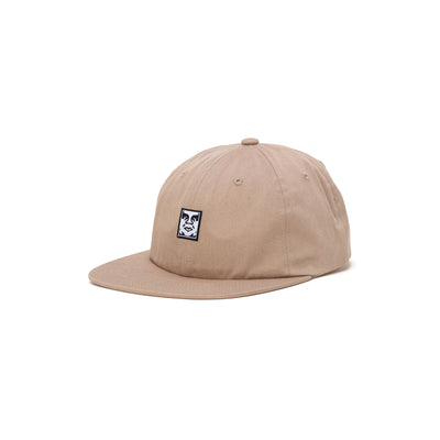 100580251 Icon Face 6 Panel Strapback - front - available at off the hook montreal #color_light-khaki