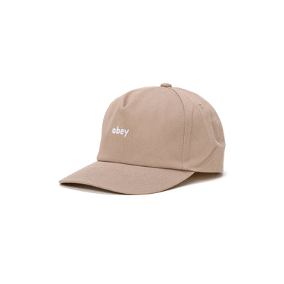 100580273 Lowercase Snapback - front - available at off the hook montreal #color_light-khaki