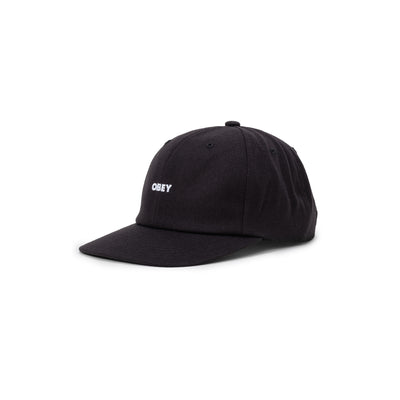 100580275 Serge 6 Panel Strapback - front - available at off the hook montreal #color_black