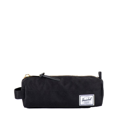 "Inspired by a classic pencil case design, the Settlement Case in Black from Herschel features an exposed metal zipper and a convenient carrying handle.  2.75""(H) x 8""(W) x 2.5""(D) Signature striped fabric liner Product code: 10071.00001.OS off the hook oth streetwear boutique canada montreal quebec"
