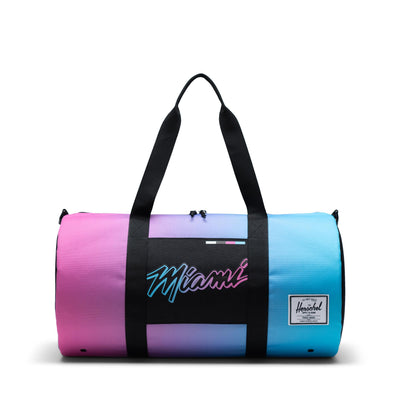 Herschel Sutton Mid 600D Poly Duffle - Miami Heat - Front - Off The Hook Montreal