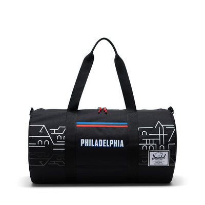 Herschel Sutton Mid 600D Poly Duffle - Philadelphia 76ers - Front - Off The Hook Montreal