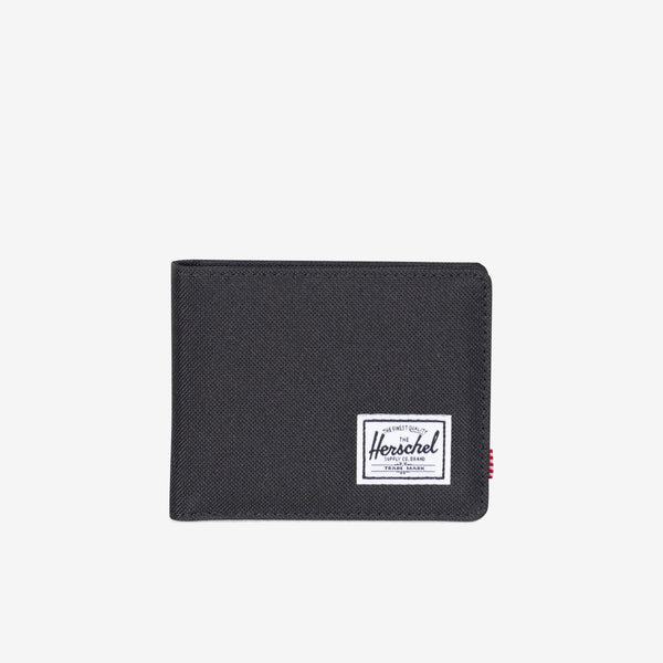 "he timeless bi-fold Roy wallet offers a currency sleeve, multiple card slots and additional storage.  3.5""(H) x 4.4""(W) x 0.5""(D) Signature striped fabric liner / RFID blocking layer Multiple card slots Engineered red and white striped tab Product code: 10363.00165.OS off the hook oth streetwear boutique canada montreal"
