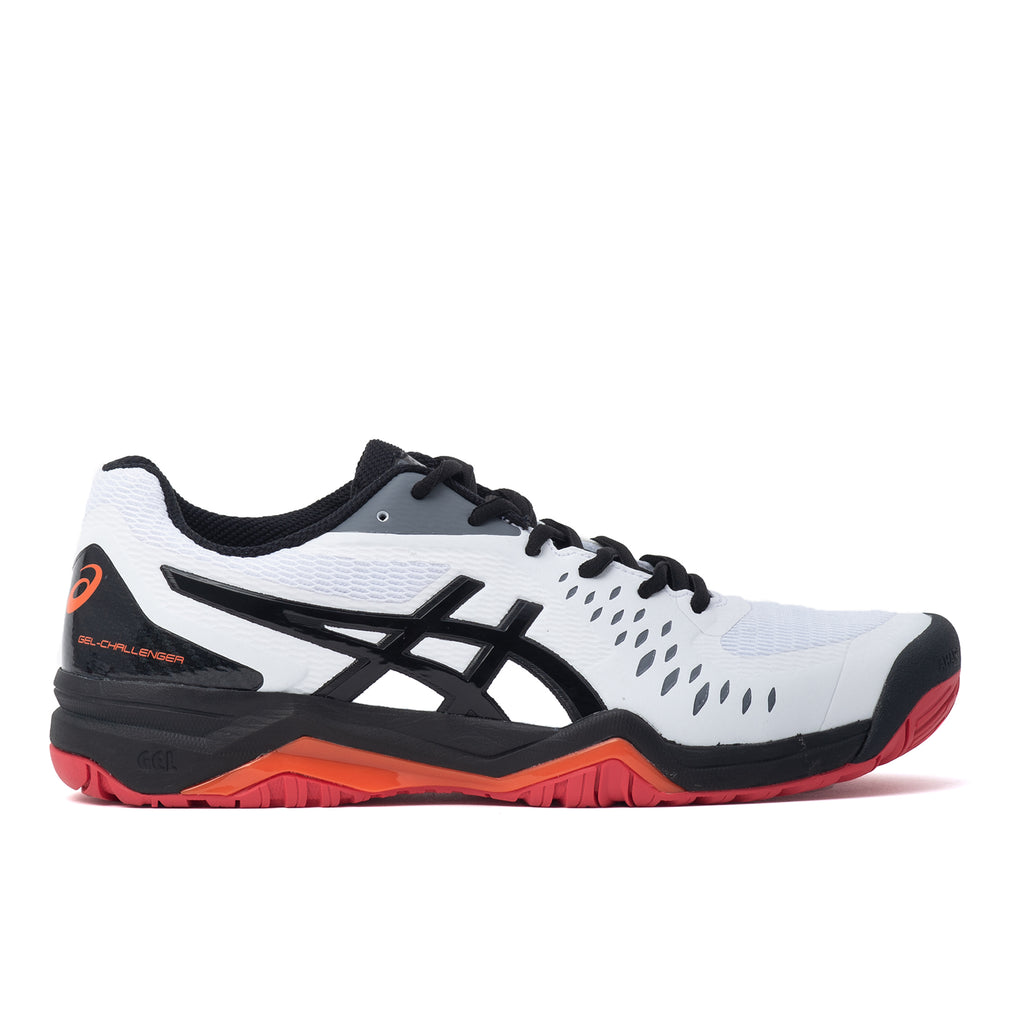 Asics 1041A045 Gel Challenger 12 Blanc / Noir - vue de côté - disponible à off the hook montreal