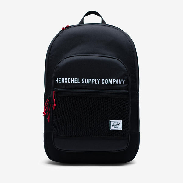 """The Herschel Supply Athletics Kaine backpack is inspired by 1990s activewear and t carryall detailing. all-over print 15"""" laptop sleeve Two-way main compartment zipper External utility pocket with organizers and key clip Front storage sleeve with mesh detailing Prusik cord zipper pulls with reflective detailing Dual water bottle pockets Adjustable sternum support strap Padded and reinforced base Product code: 10696.03102.OS off the hook oth streetwear boutique canada montreal quebec"""