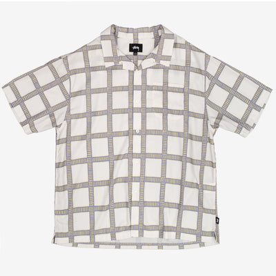 Stussy Hand Drawn Plaid Shirt - Off White - Front - Off The Hook Montreal