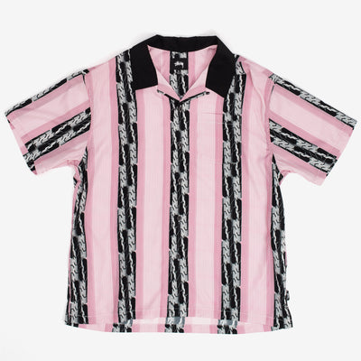 Stussy Deco Striped Shirt - Pink - Front - Off The Hook Montreal