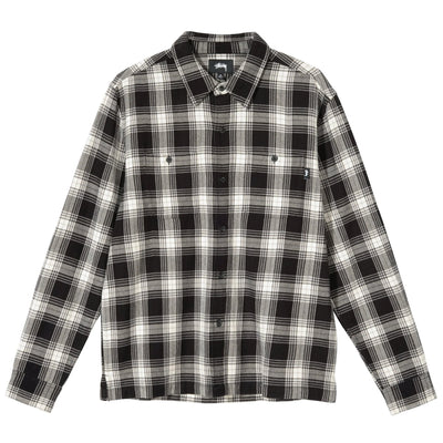 Stussy Beach Plaid Shirt - Black - Front - Off The Hook Montreal