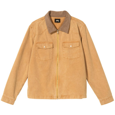 Stussy Washed Canvas Work Shirt - Gold - Front - Off The Hook Montreal