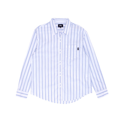 Stussy 1110142 Classic Double Button LS Shirt - front - available at off the hook montreal #color_stripe