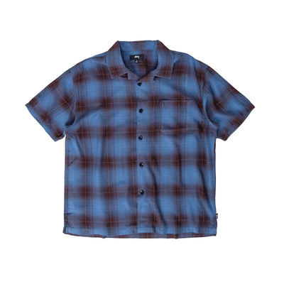 1110152 Boxy Shadow Plaid Shirt - front - available at off the hook montreal #color_blue