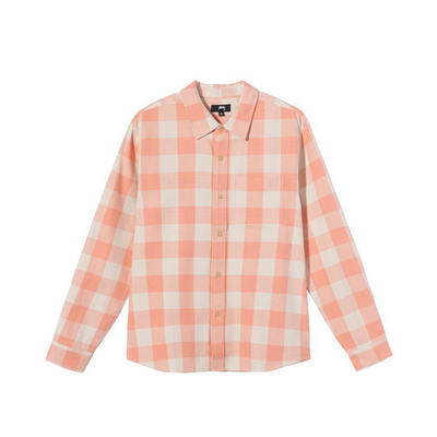 Stussy Venice Plaid Shirt - Peach - Front - Off The Hook Montreal #color_peach
