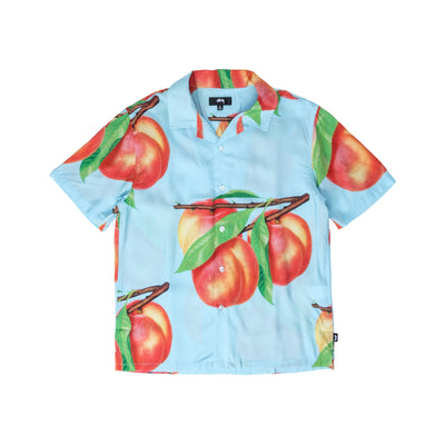 1110159 Peach Pattern Shirt - front - available at off the hook montreal #color_light-blue