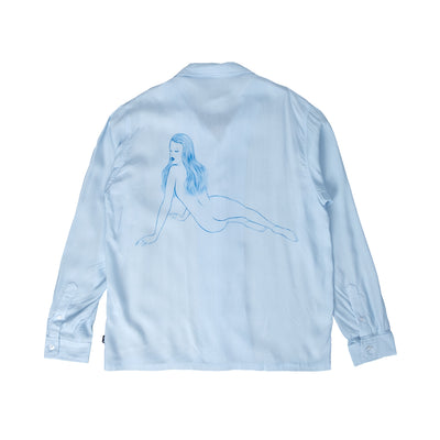 1110164 Pin Up Girl Long Sleeve Shirt - back - available at off the hook montreal #color_lgry