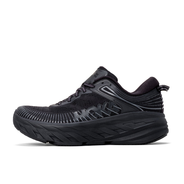 HOKA ONE ONE M Bondi 7 - Black / Black - Side  - Off The Hook Montreal #color_black