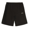 stussy stock logo polaire shorts noir vintage teint oth off the hook