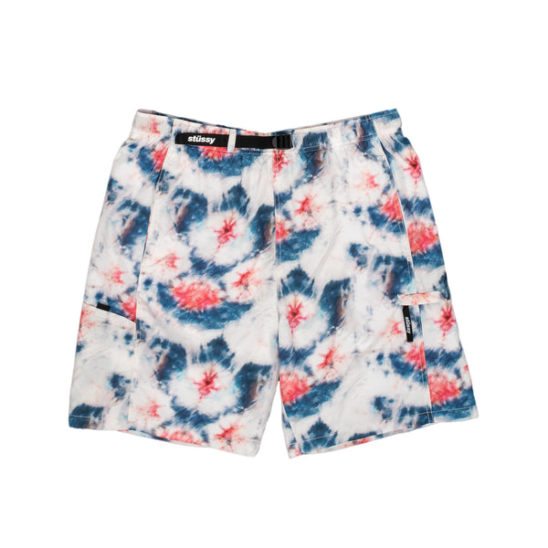 stussy shorts tie dye multi red blue sport oth off the hook