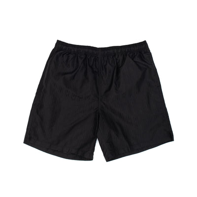Stussy Jacquard Nylon Short - Black - Front - Off The Hook Montreal