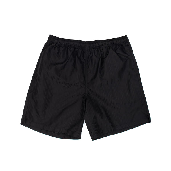 stussy jacquard short shorts nylon black oth off the hook
